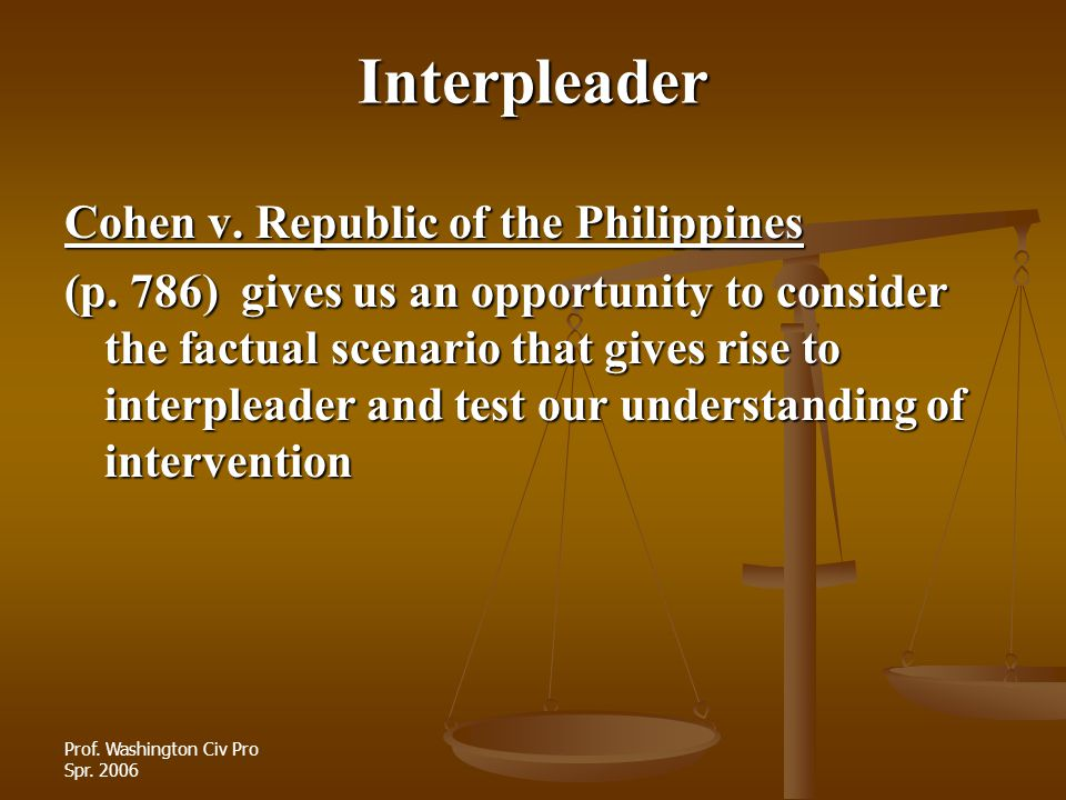 Interpleader Cohen v. Republic of the Philippines