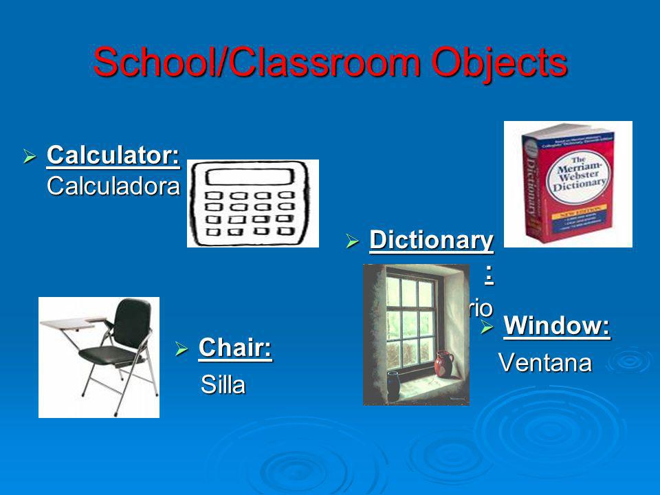School/Classroom Objects