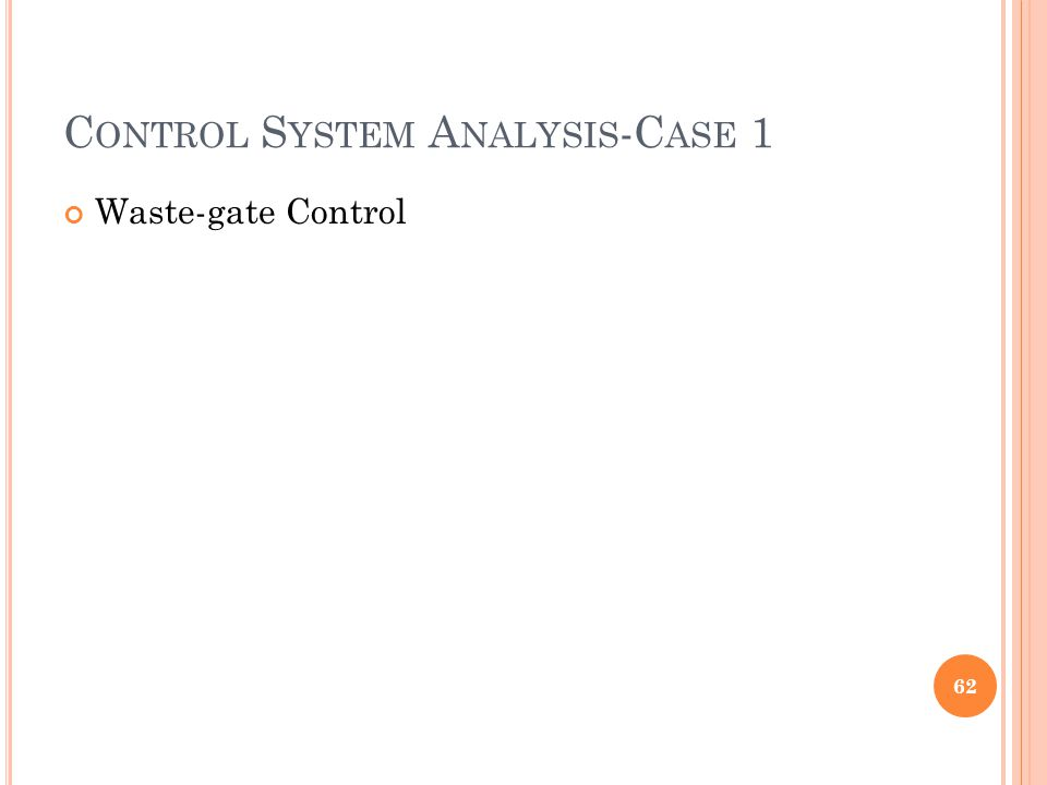 Control System Analysis-Case 1