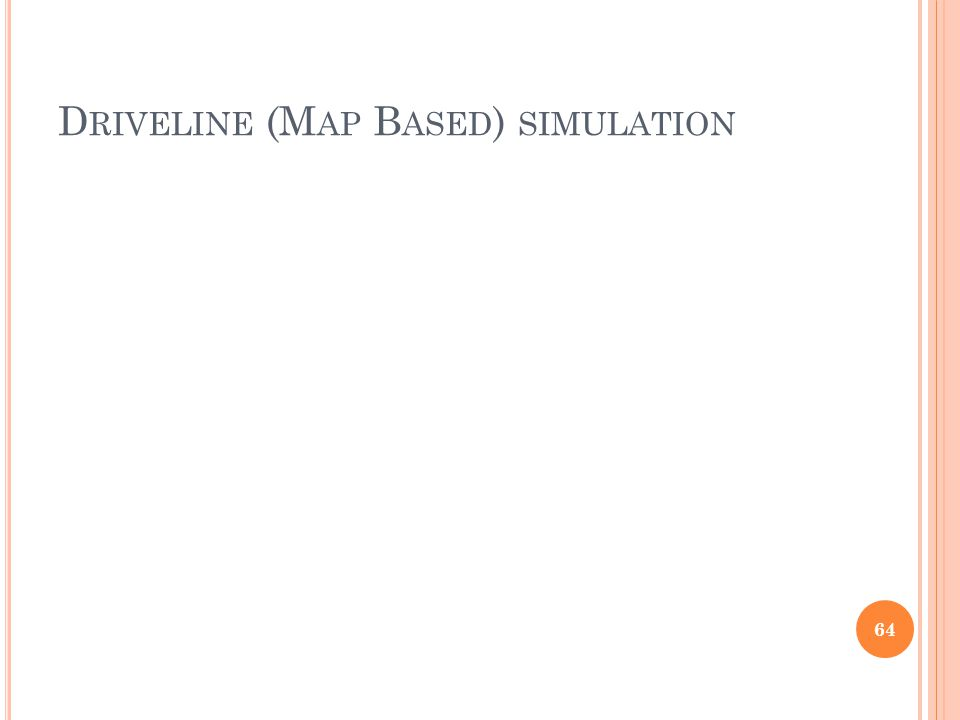 Driveline (Map Based) simulation