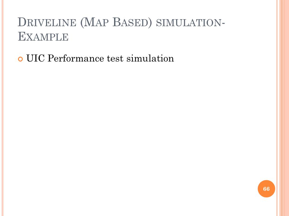 Driveline (Map Based) simulation-Example