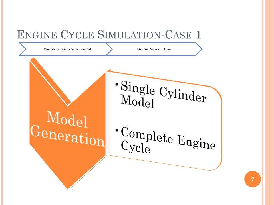 Engine Cycle Simulation-Case 1