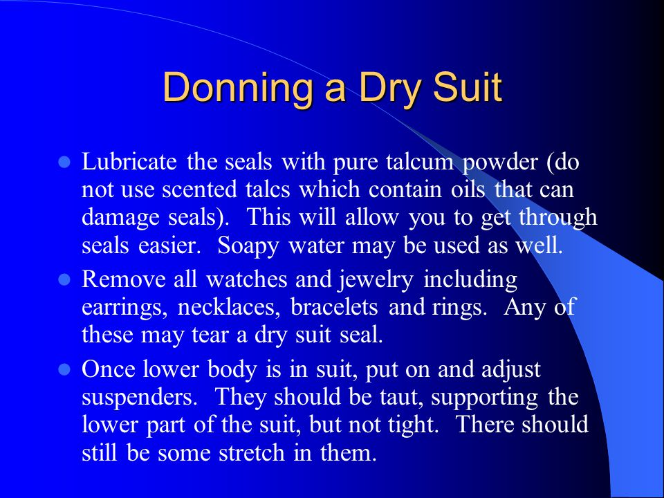 Donning a Dry Suit