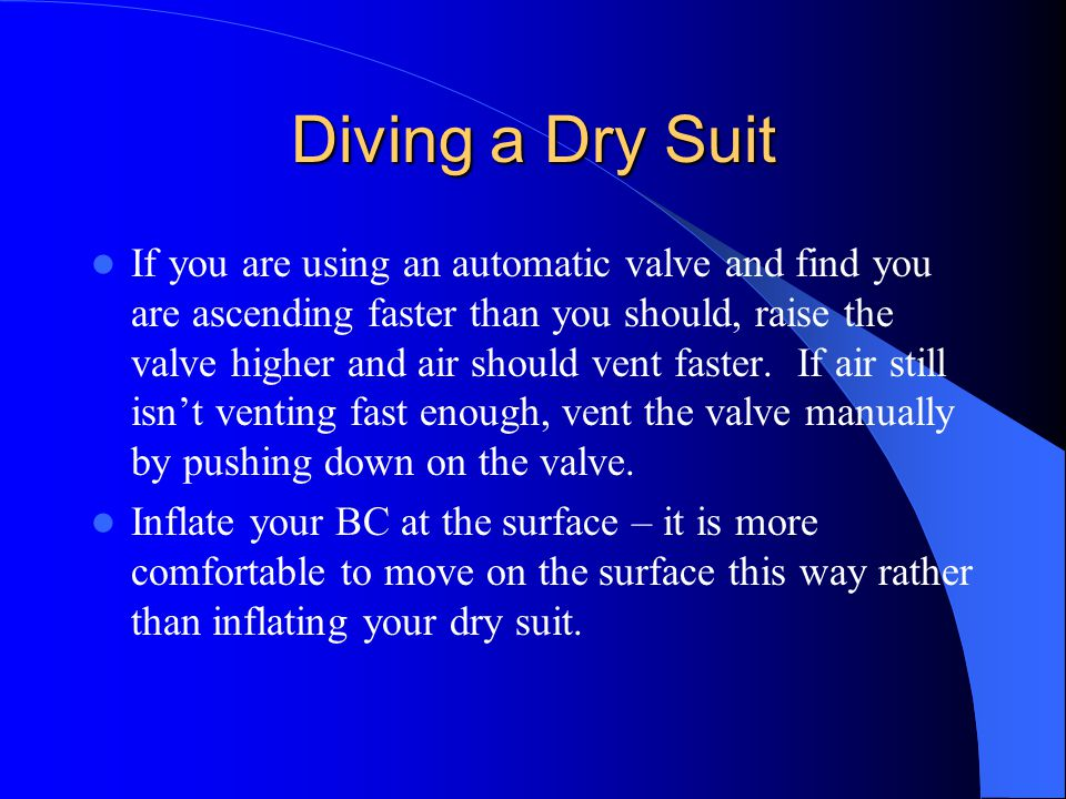 Diving a Dry Suit
