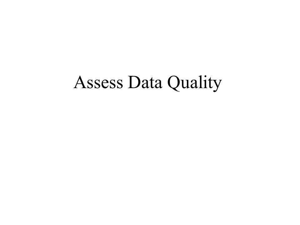 Assess Data Quality