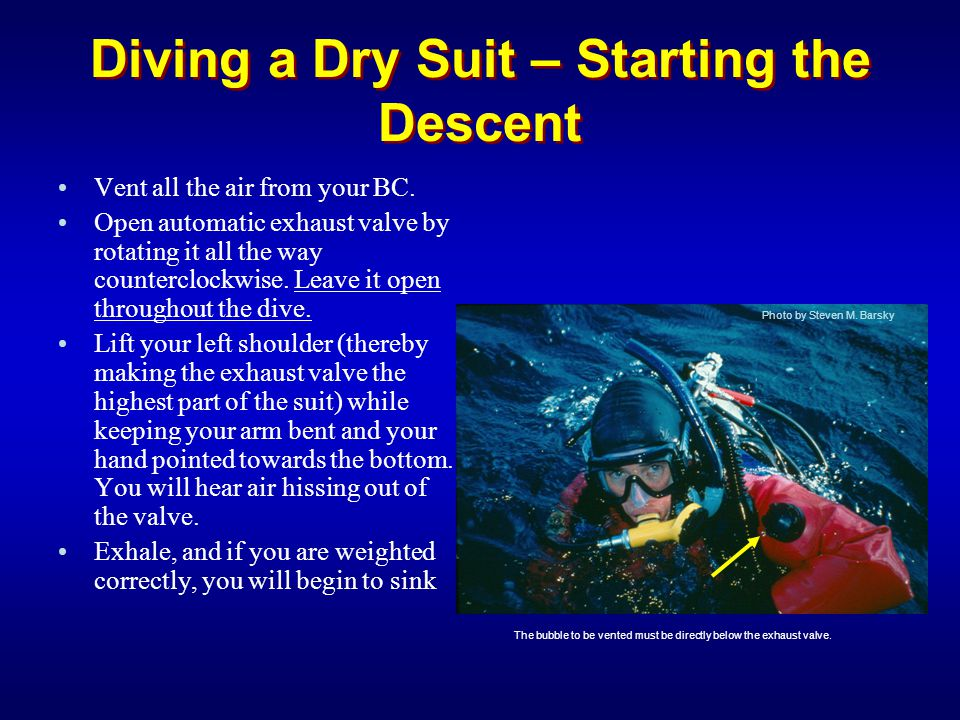 Diving a Dry Suit – Starting the Descent