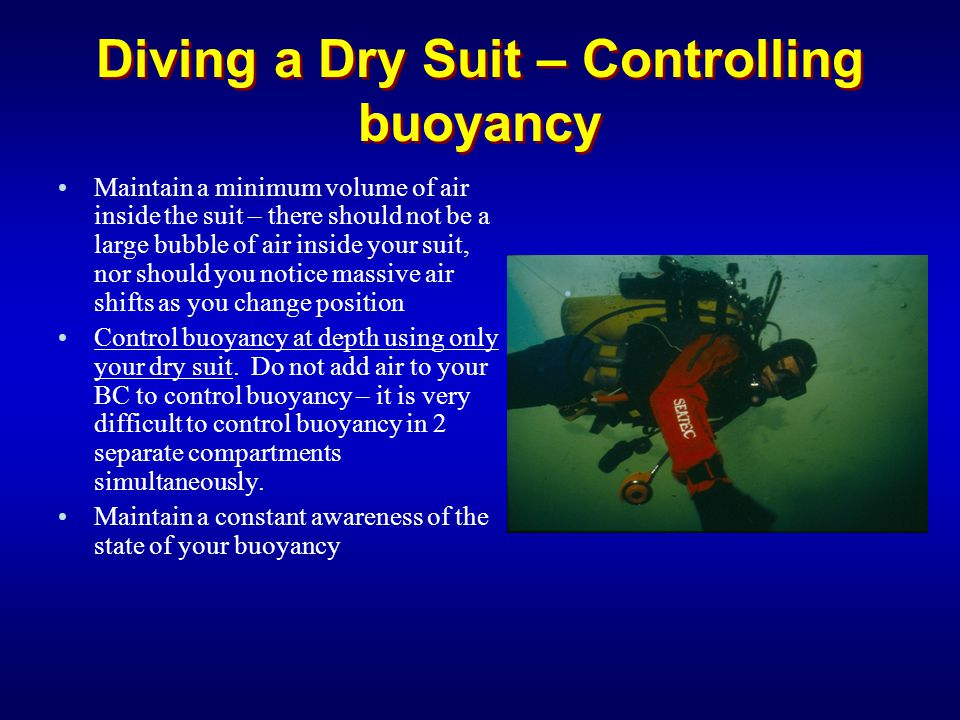 Diving a Dry Suit – Controlling buoyancy