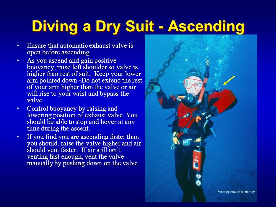 Diving a Dry Suit - Ascending
