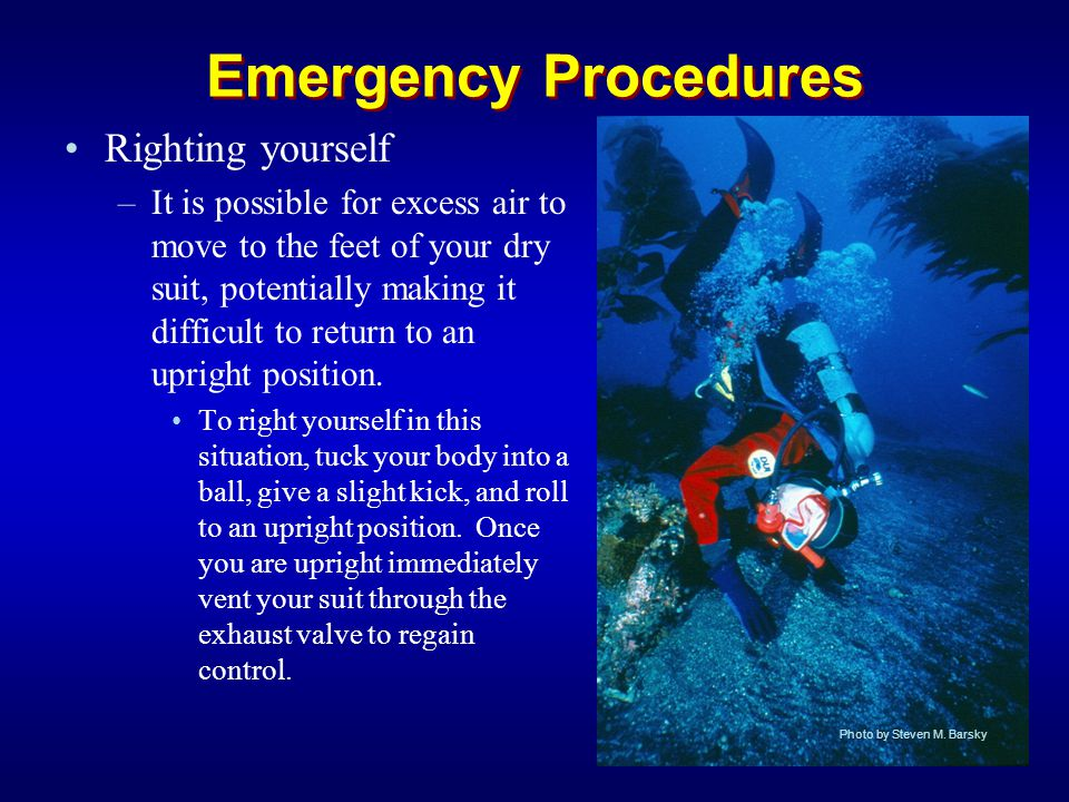 Emergency Procedures Righting yourself