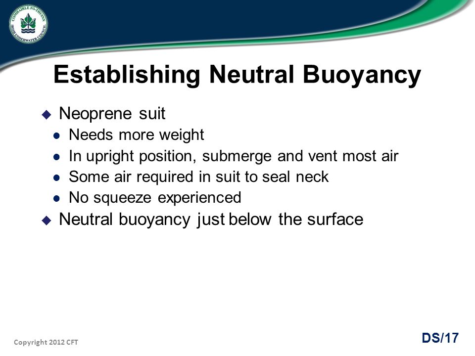 Establishing Neutral Buoyancy