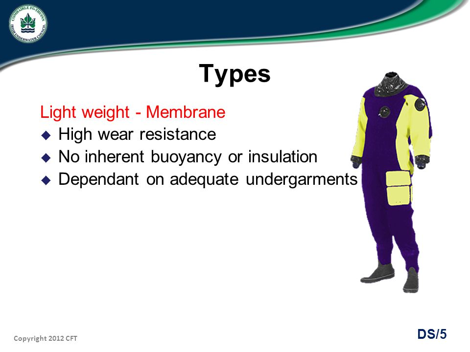 Types Light weight - Membrane High wear resistance
