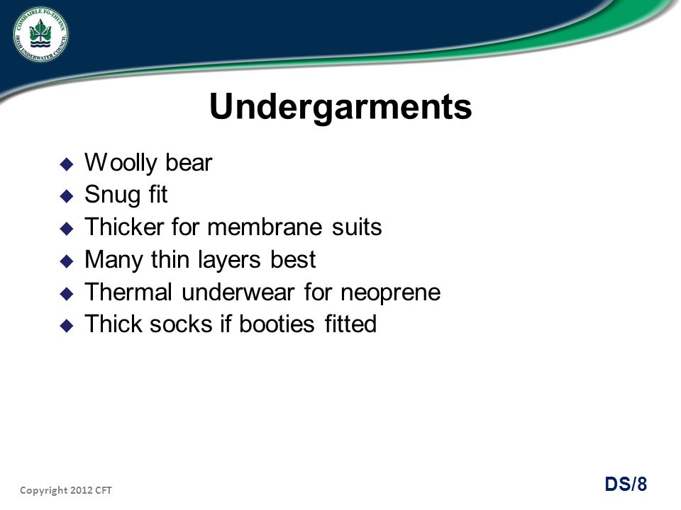 Undergarments Woolly bear Snug fit Thicker for membrane suits