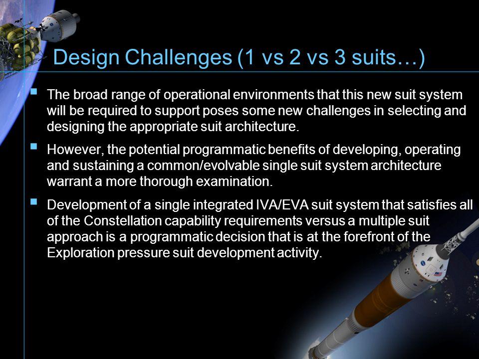 Design Challenges (1 vs 2 vs 3 suits…)