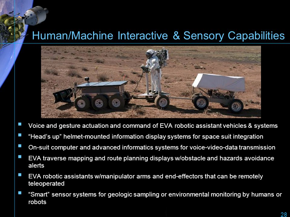 Human/Machine Interactive & Sensory Capabilities