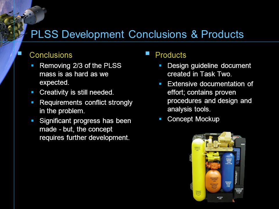 PLSS Development Conclusions & Products
