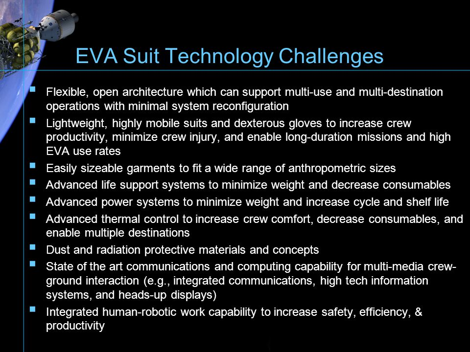 EVA Suit Technology Challenges