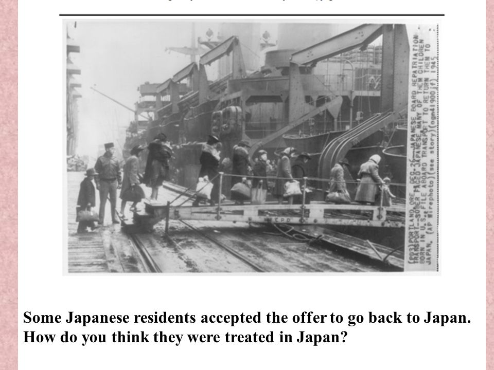Some Japanese residents accepted the offer to go back to Japan