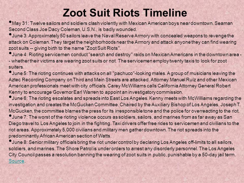 Zoot Suit Riots Timeline