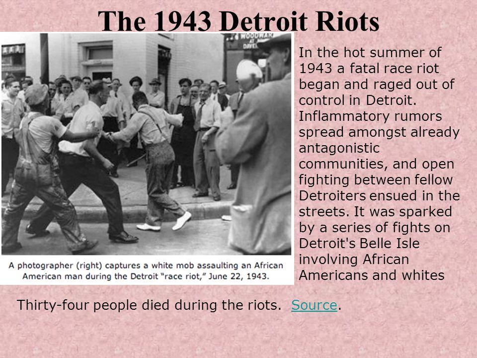 The 1943 Detroit Riots