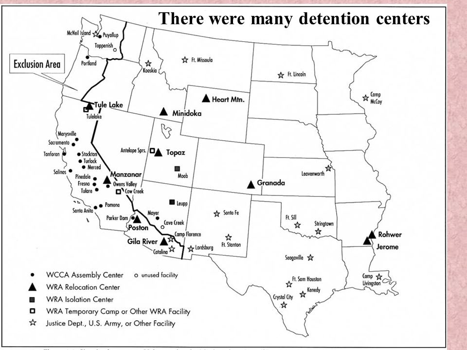 There were many detention centers