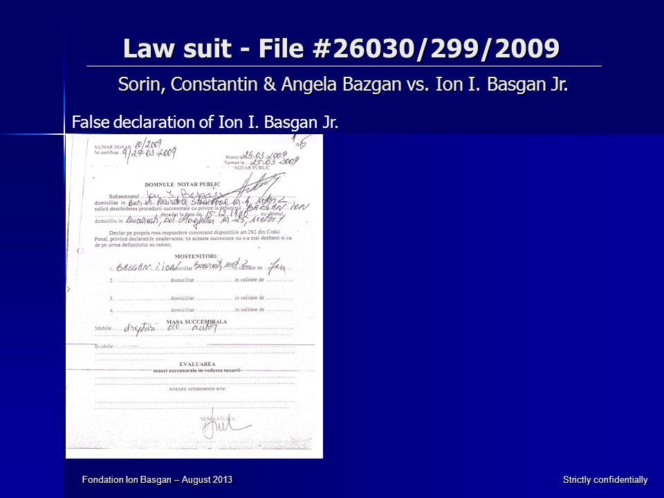 Sorin, Constantin & Angela Bazgan vs. Ion I. Basgan Jr.