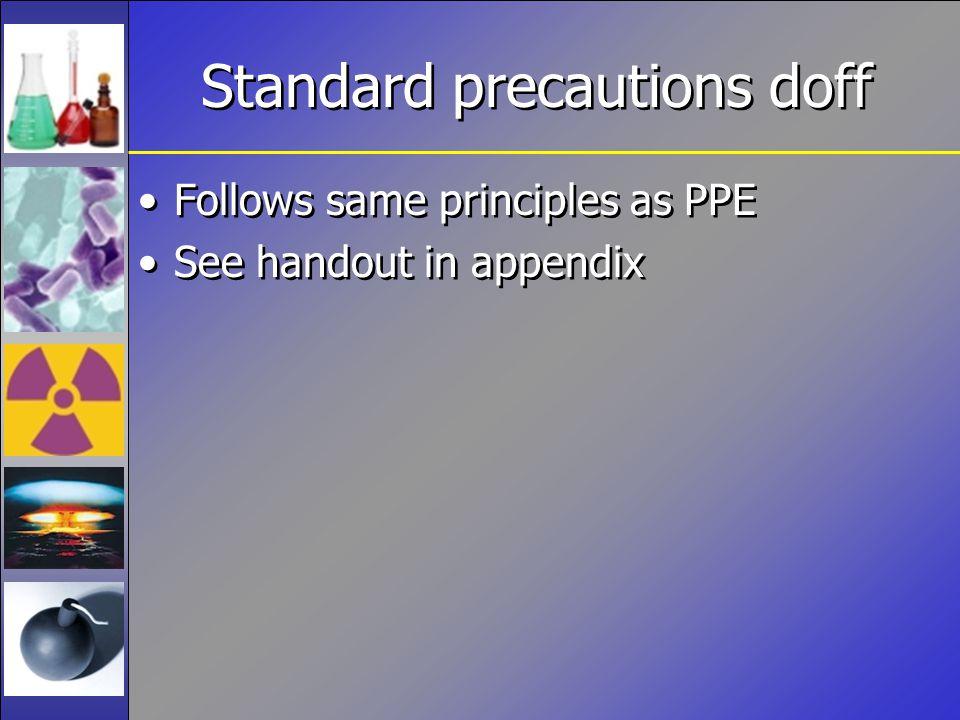 Standard precautions doff