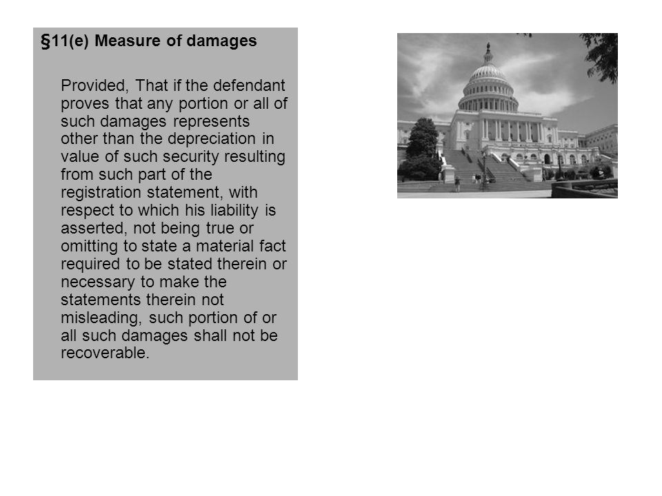 §11(e) Measure of damages