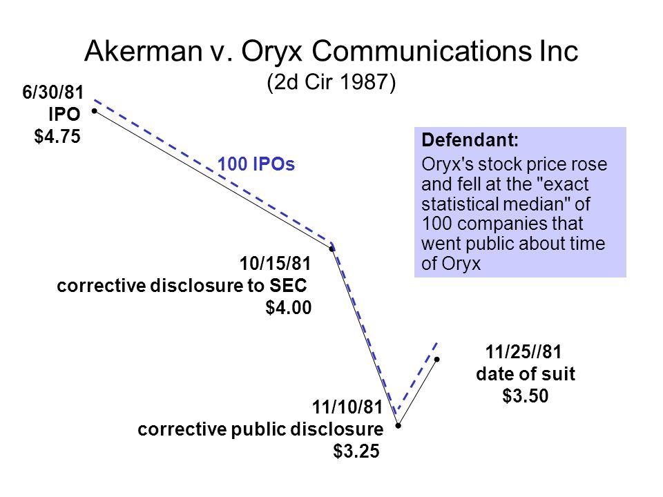 Akerman v. Oryx Communications Inc (2d Cir 1987)