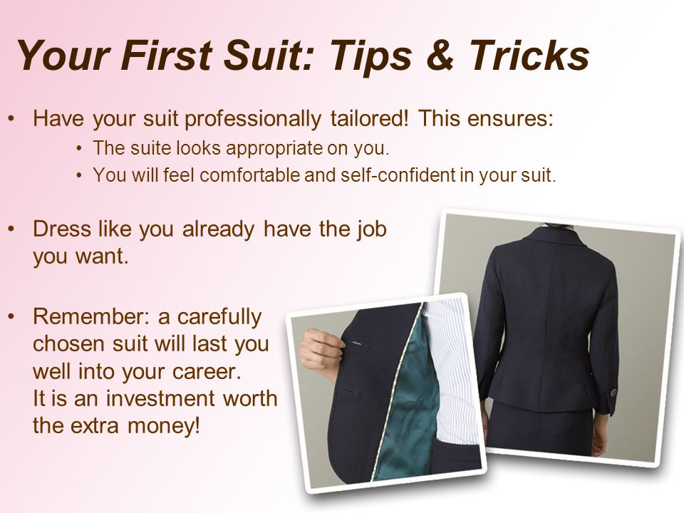 Your First Suit: Tips & Tricks
