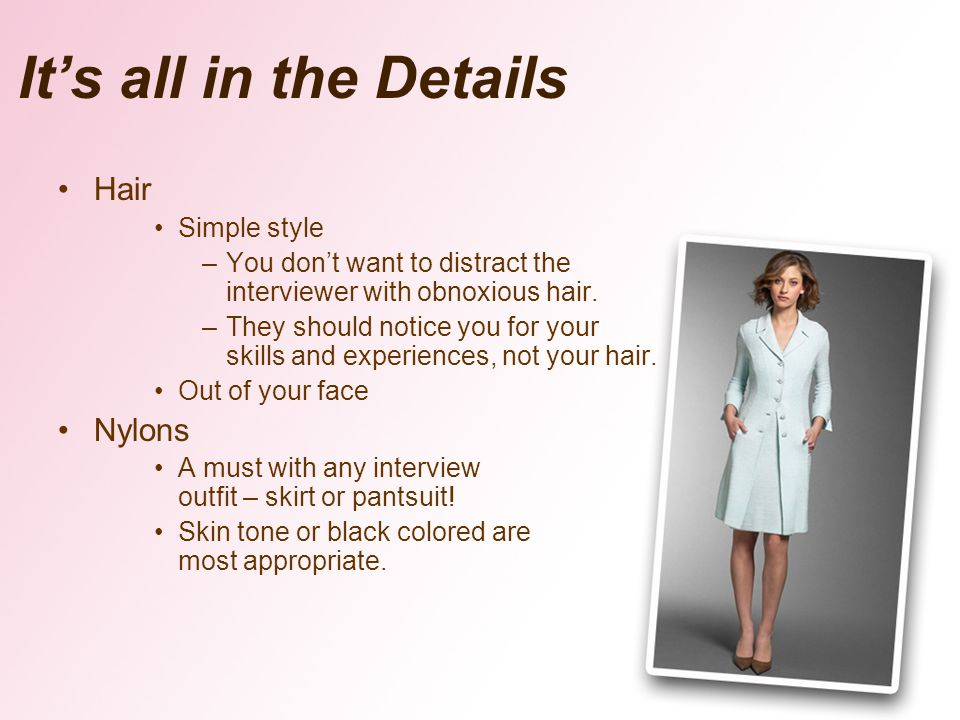 It's all in the Details Hair Nylons Simple style