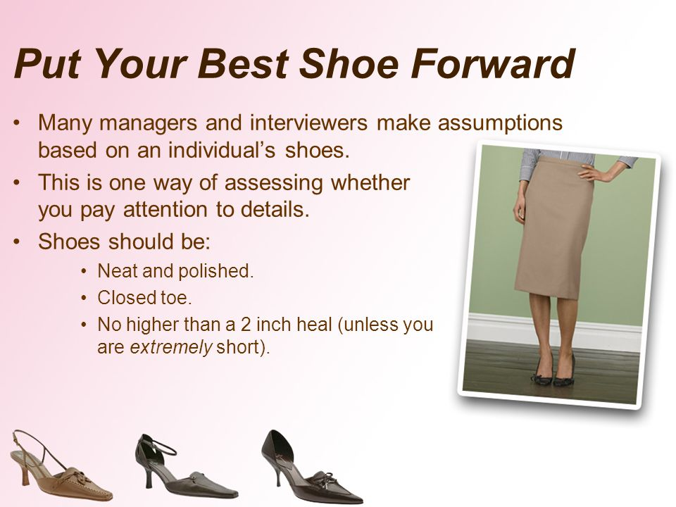 Put Your Best Shoe Forward