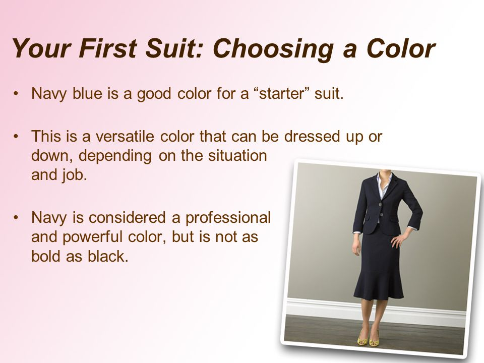 Your First Suit: Choosing a Color