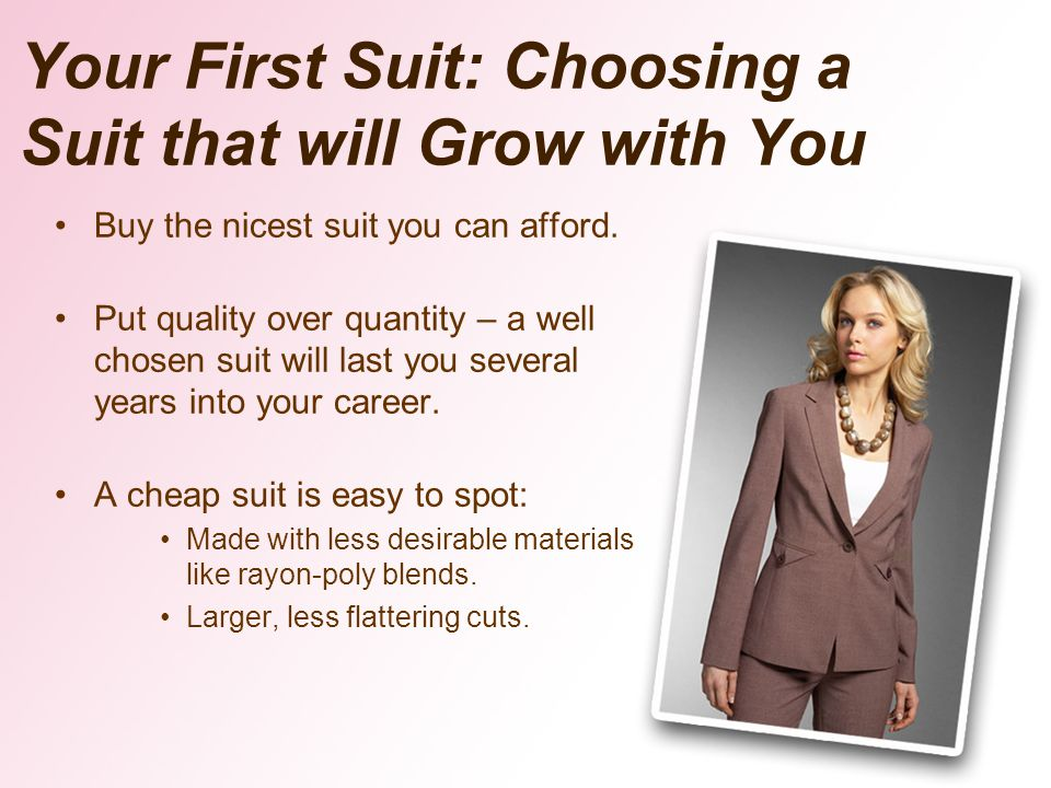 Your First Suit: Choosing a Suit that will Grow with You