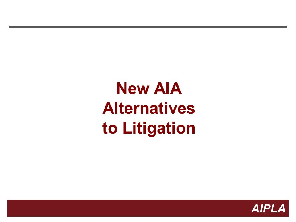 Alternatives to Litigation