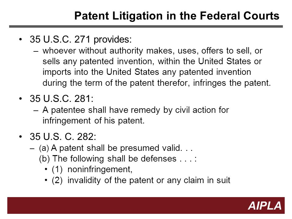 Patent Litigation in the Federal Courts