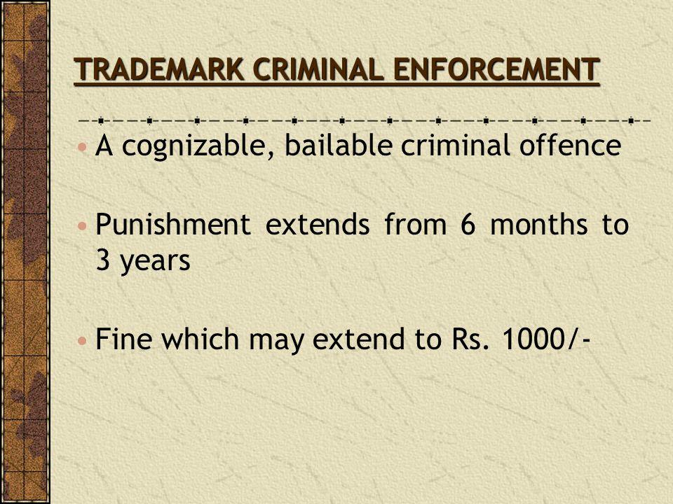 TRADEMARK CRIMINAL ENFORCEMENT