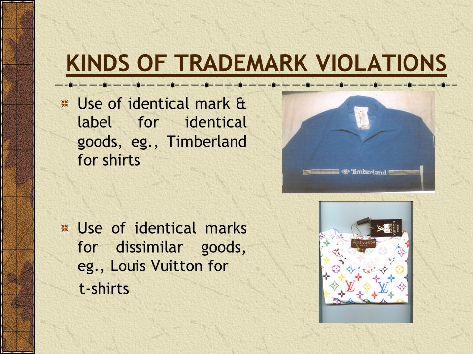 KINDS OF TRADEMARK VIOLATIONS