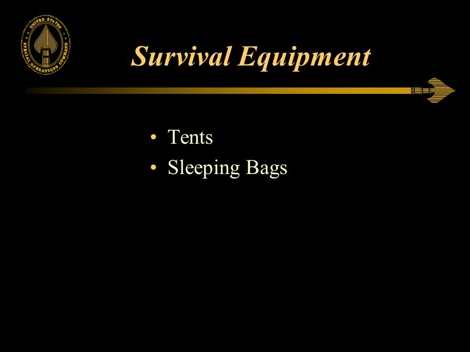 Survival Equipment Tents Sleeping Bags