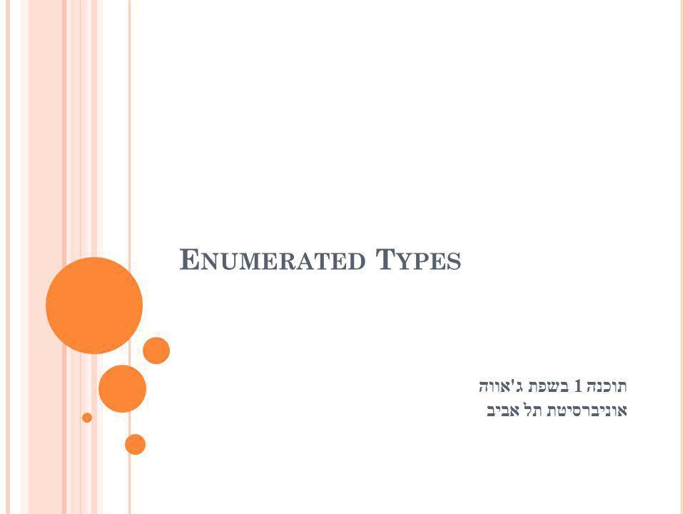 תוכנה 1 בשפת ג אווה אוניברסיטת תל אביב