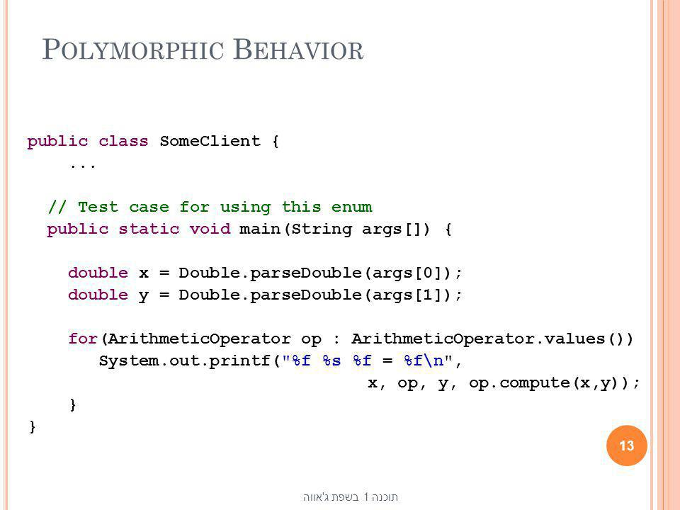 Polymorphic Behavior