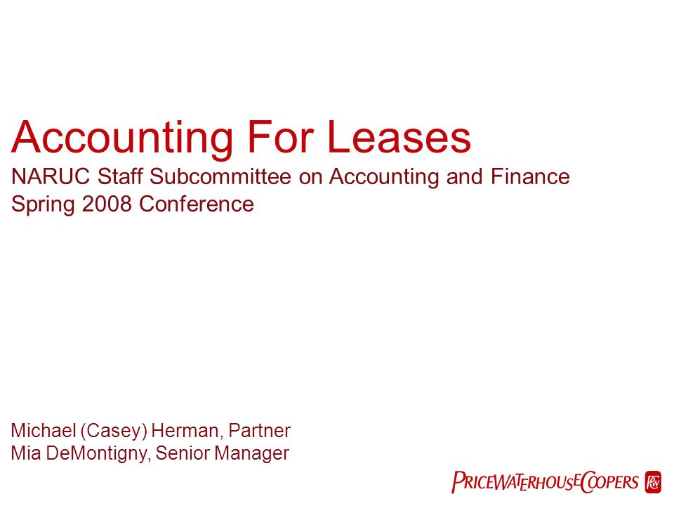 Accounting For Leases PwC