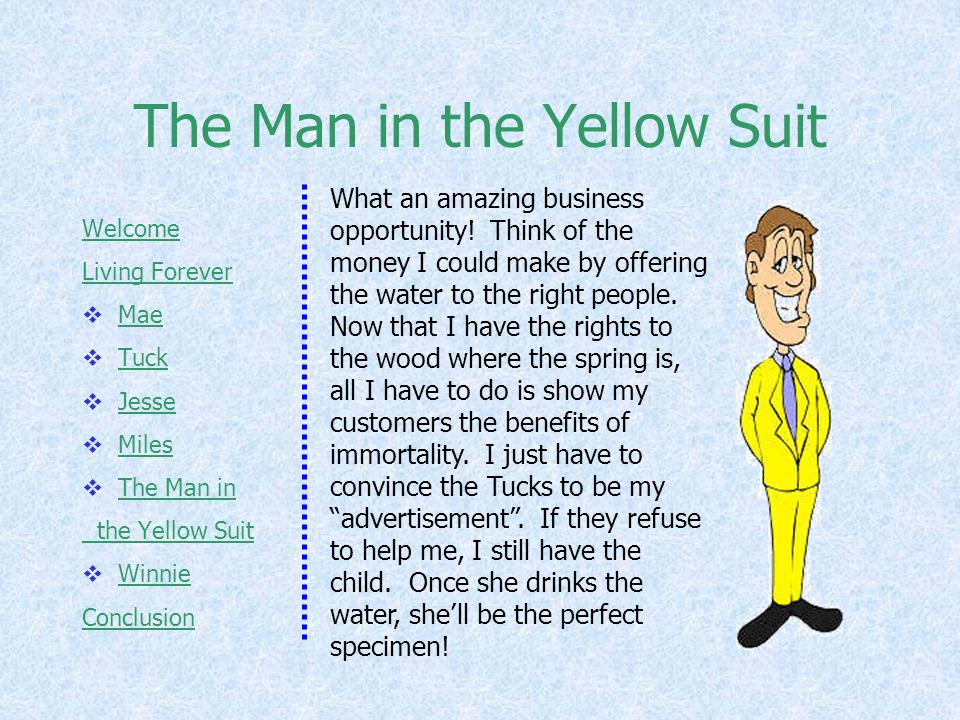 The Man in the Yellow Suit