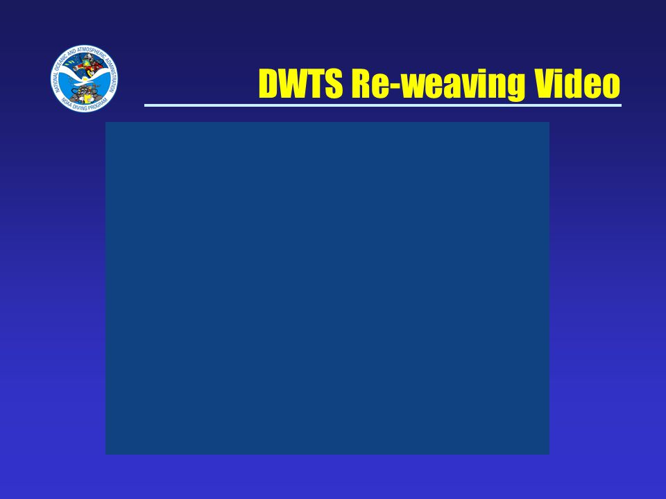 DWTS Re-weaving Video NOAA Diving Program Sept 5, 2007
