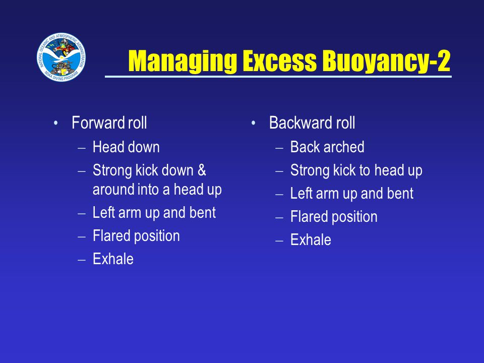 Managing Excess Buoyancy-2