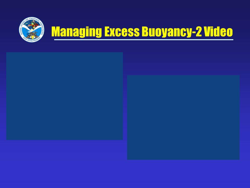 Managing Excess Buoyancy-2 Video