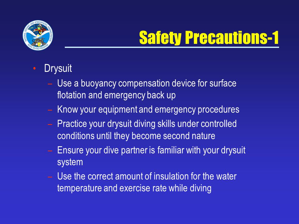 Safety Precautions-1 Drysuit