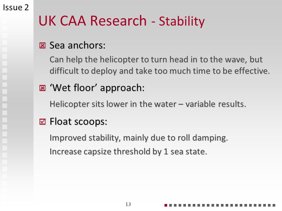 UK CAA Research - Stability