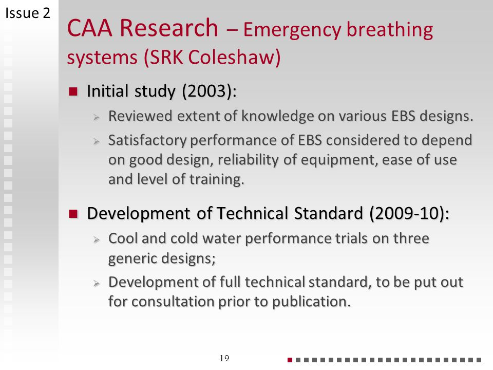 CAA Research – Emergency breathing systems (SRK Coleshaw)