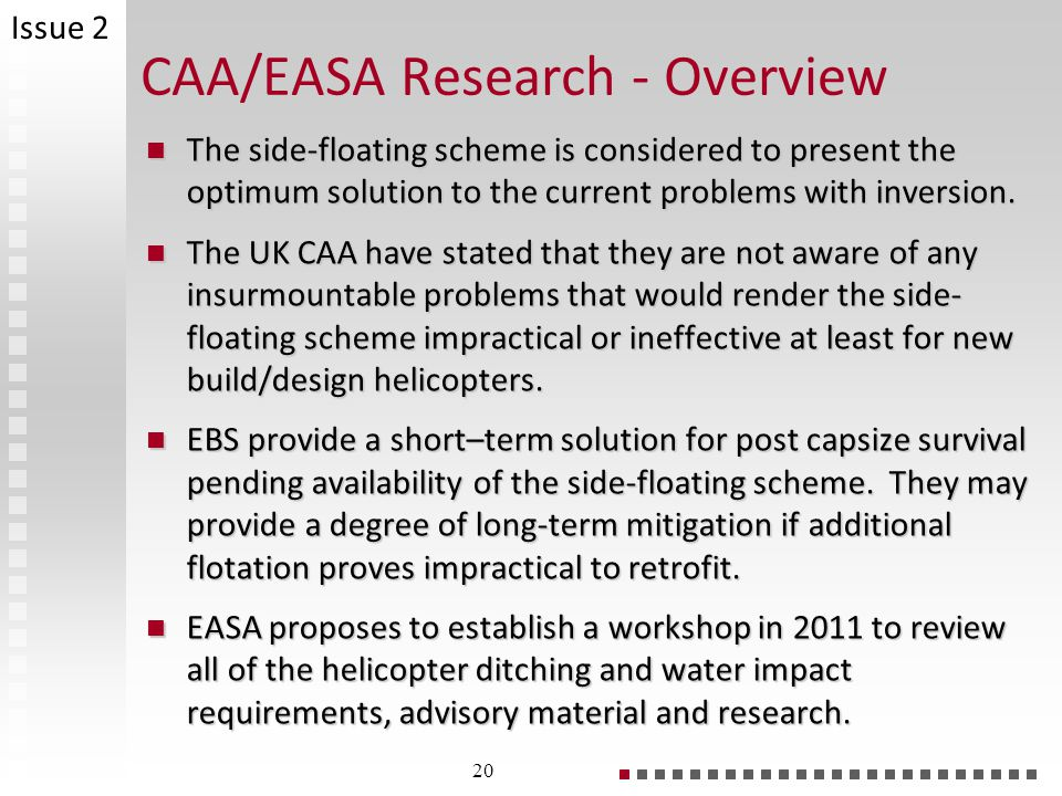 CAA/EASA Research - Overview