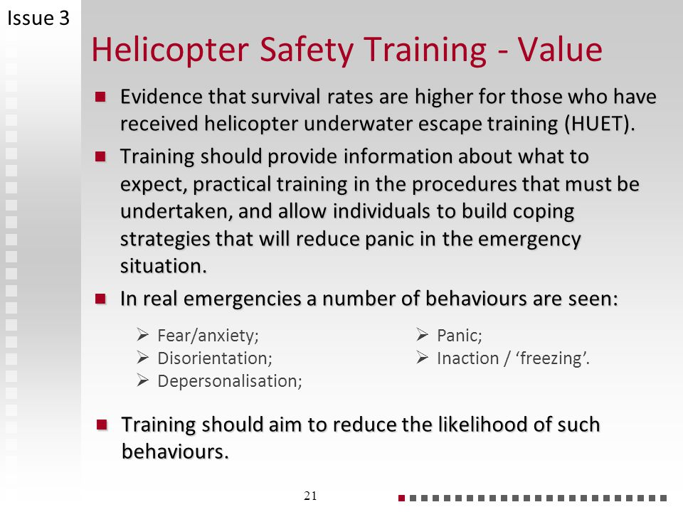Helicopter Safety Training - Value